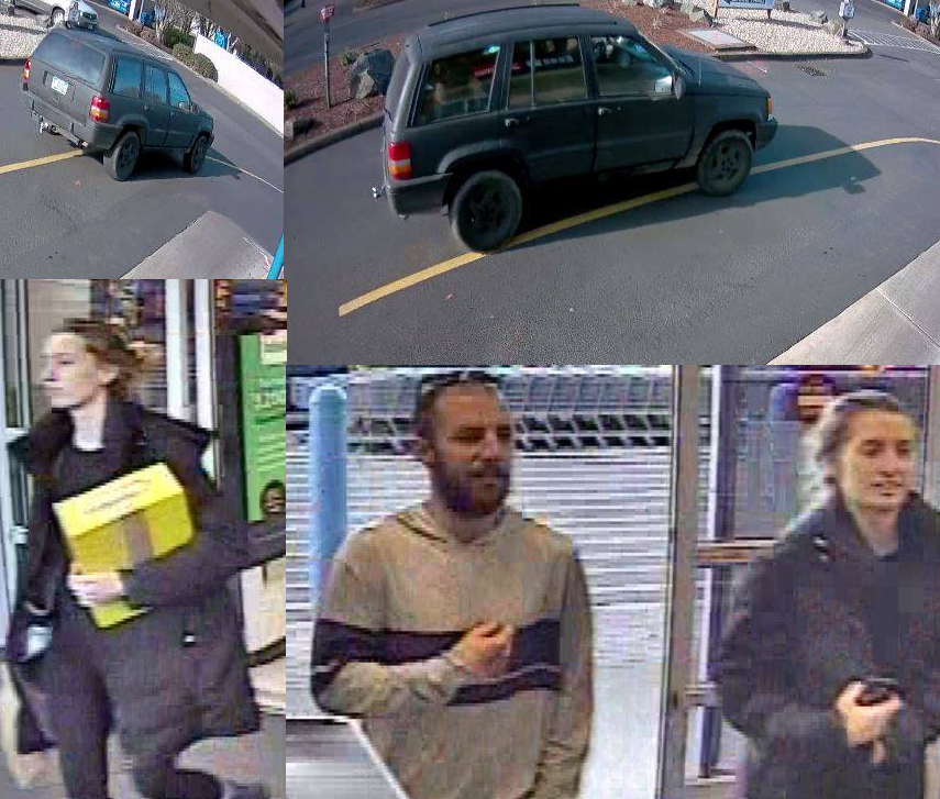 Persons of interest wanted for questioning in a Eugene credit card fraud case