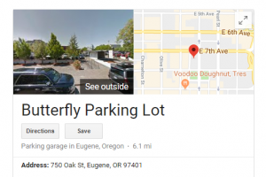 Butterfly Lot Eugene Oregon Lane County